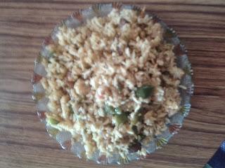 Capsicum and Panner Rice 1